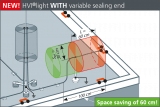 HVI light with variable sealing end
